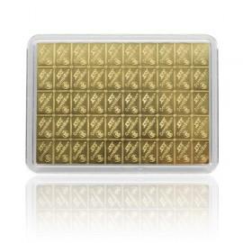 50 g Gold Tafelbarren Combibarren