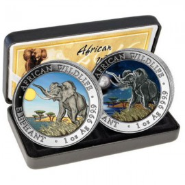2 x 1oz Somalia Elefant Set Tag & Nacht 2016