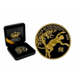 1 oz Lunar UK monkey Black Empire Gold edition