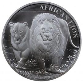 1 oz Silver  African Lion Gorilla Kongo 2016