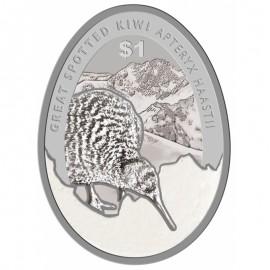 1 unze Silber Kiwi 2016  Blister farbig Eiförmig PP