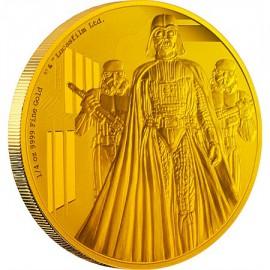 1/4 oz Darth Vader Star Wars  PP  Gold 2015