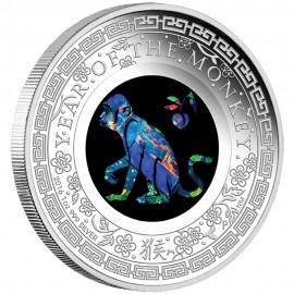 1 Unze Silber Lunar Opal Serie Affe
