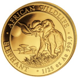 1/50 oz Somalia Elefant Gold 2015