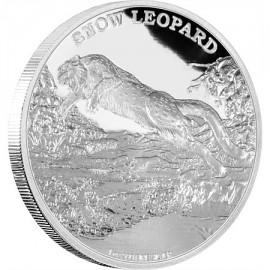 1 Unze oz Silber Endangered Species Schneeleopard  Niue Box PP