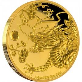 1/4 oz Feng Shui Drache PP  Gold 2016