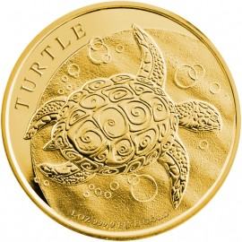 1 Unze Gold Fiji Taku Turtle Nieu