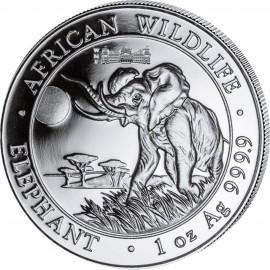 1 Unze Silber Somalia Elefant 2016  Berliner Reichstag WMF