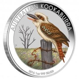 1 Unze Silber Australien Kookaburra 2016 WMF Berlin  Farbig