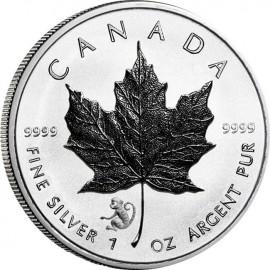 1 Unze Silber Maple Leaf 2016 Privy Affe