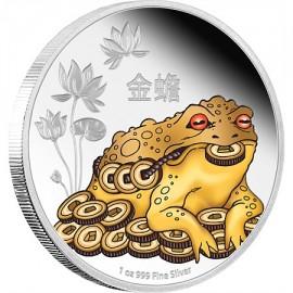 1 Unze Silber Feng Shui Geldkröte  Niue  Box PP