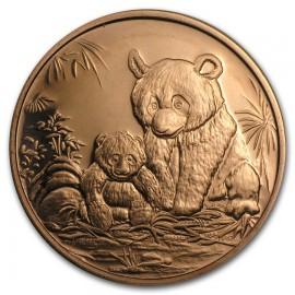 1 Unze Kupfer Panda Round 999,99 Copper