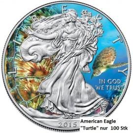 1 Unze Silber American Eagle 2015 Turtle