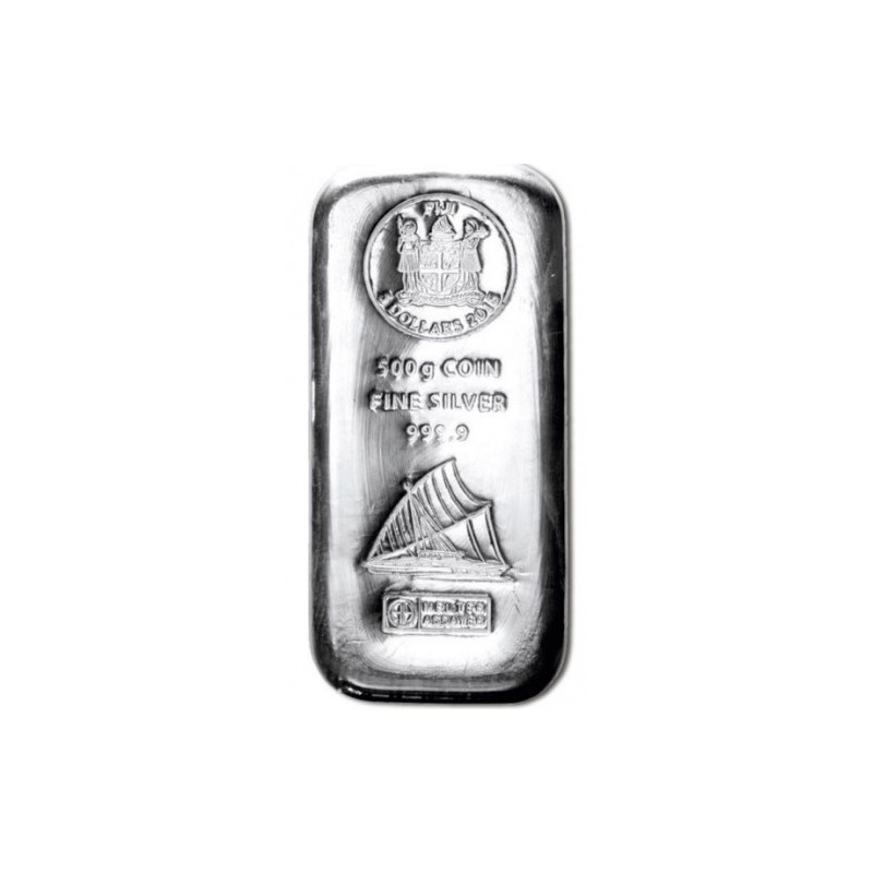 500 g  Silber Fiji Münzbarren  Coin bar