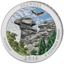 5 Unzen Silber America The Beautiful 2016 Shawnee farbig colored