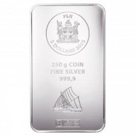 250 g  Silber Fiji Münzbarren  Coin bar