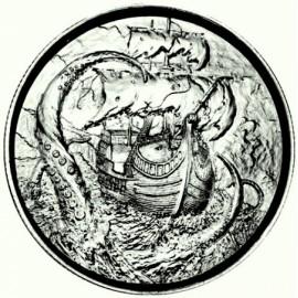 2 Unzen Silber Ultra High Relief  The Kraken