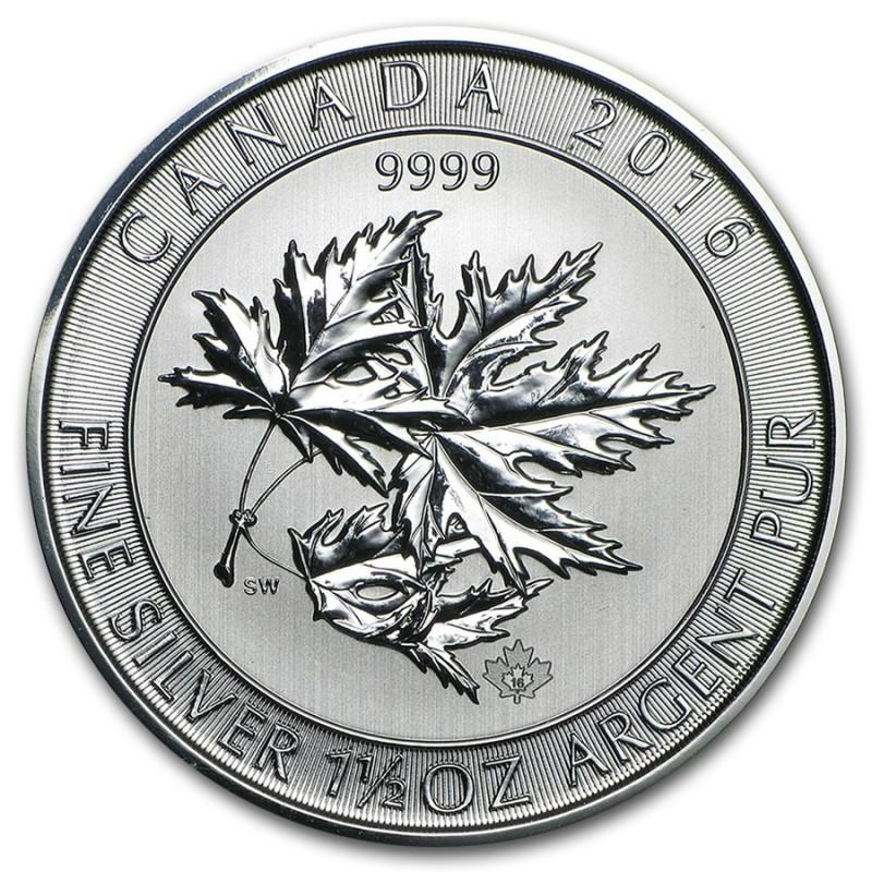 1,5 Unze Silber Maple Leaf 2015 Gilded Superleaf