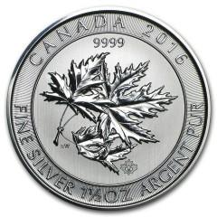 1,5 Unze Silber Maple Leaf 2016/17 Superleaf