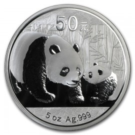 5 Unzen Silber China Panda 2011 PP BOX