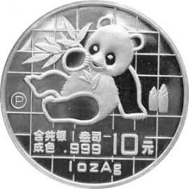 1 Unze Silber China Panda 1989 PP BOX