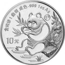 1 Unze Silber China Panda 1991 PP BOX