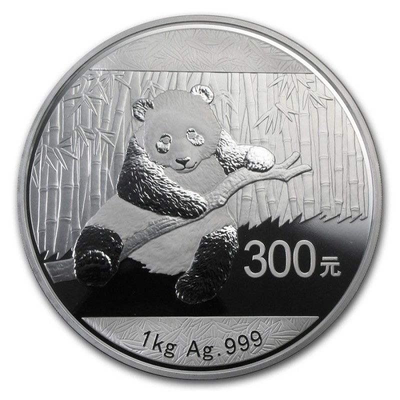 1 kg Kilo Silber China Panda 2014 PP BOX Rarität