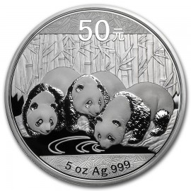 5 Unzen Silber China Panda 2013 PP BOX