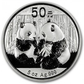 5 Unzen Silber China Panda 2009 PP BOX