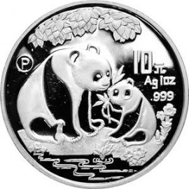 1 Unze Silber China Panda 1993 PP BOX