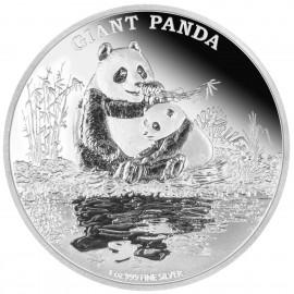1 Unze oz Silber Endangered Species Giant Panda Niue Box PP