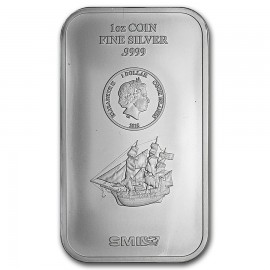 1 Unze Silber Cook Islands Münzbarren  Coin bar