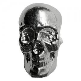 3 Unzen Silber 999 Handgegossener Skull