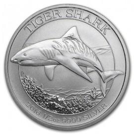 1/2 Unze Silber Tiger Shark Tigerhai 2016