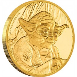 1/4 oz Yoda Star Wars  PP  Gold 2015