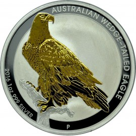1 Unze Silber Wedge-Tailed Eagle 2016 Gilded