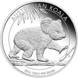 1kg Silber Koala 2016 PP