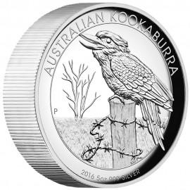 5 Unzen  Silber Australien Kookaburra 2016 High Relief