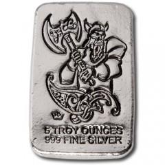 Silver Bar 5 oz Monarch Mint