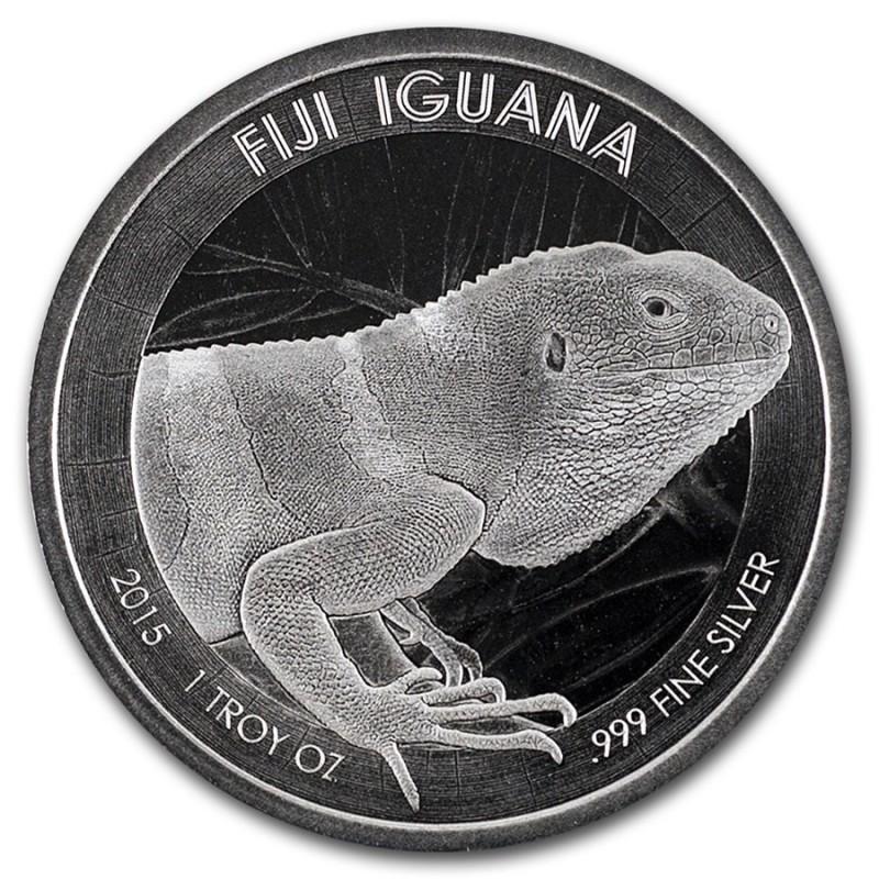 1 Unze Silber Leguan Fiji   2015