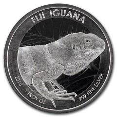 1 Unze Silber Leguan Fiji   2015 Iguana