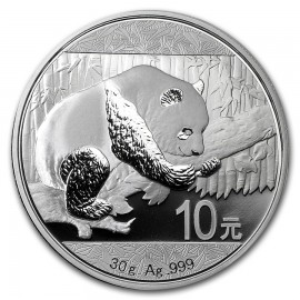 30 Gramm  China Silber Panda 2016