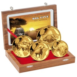 Big Five Gold Buffalo Büffel Set 2016 (1/10, 1/4, 1/2, 1 Unze)