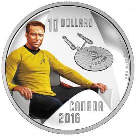 1/2 Unze Silber Canada Captain James T.Kirk 50 Jahre Star Trek 2016