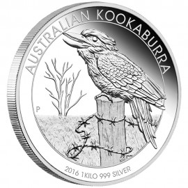 1 Kilo Silver Australien Kookaburra 2016 PP