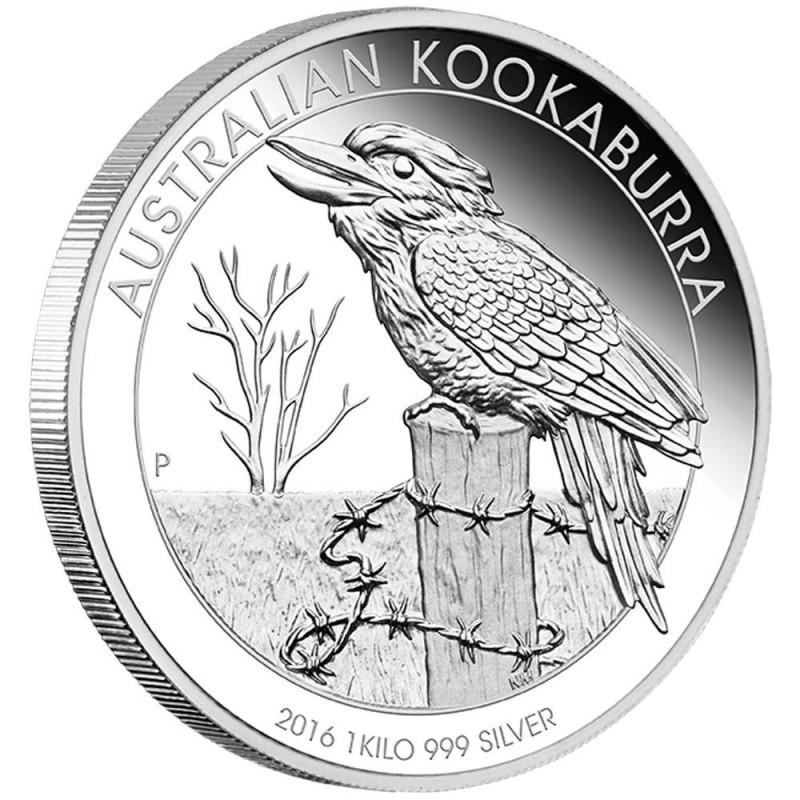 1 kg  Silber Australien Kookaburra 2016 PP Box + Zertifikat