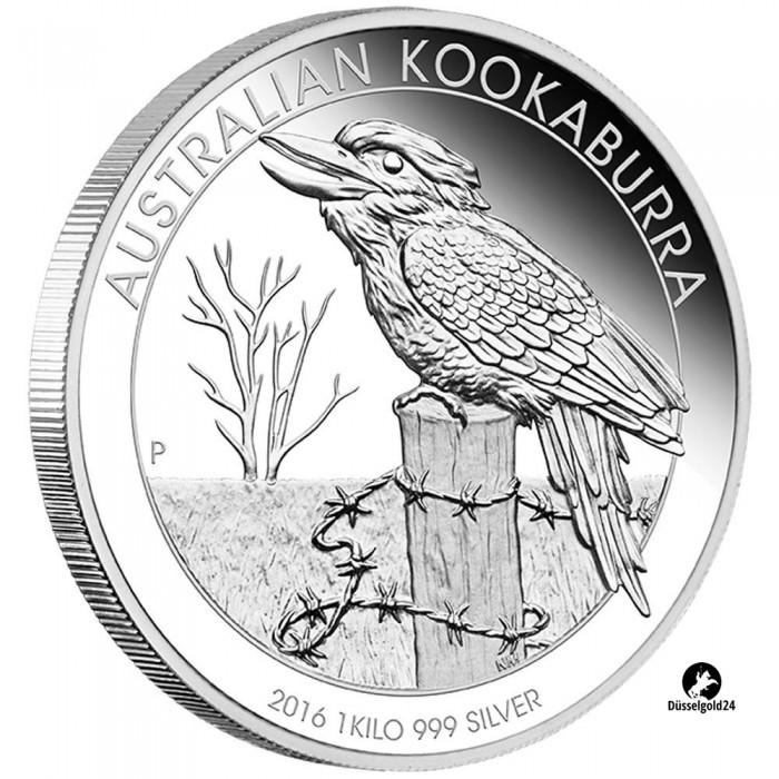 1 Kilo Silber Silberm 252 Nze Kookaburra 2016 Pp Polierte Platte