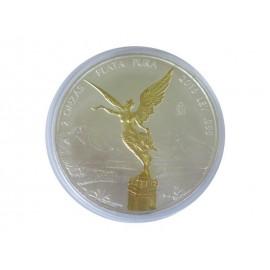 2 oz Silber Mexiko Libertad 2016 gilded