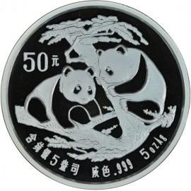 5 Unzen Silber China Panda 1988  PP Originaletui Zertifikat