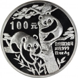 12 oz Silber China Panda 1988 PP